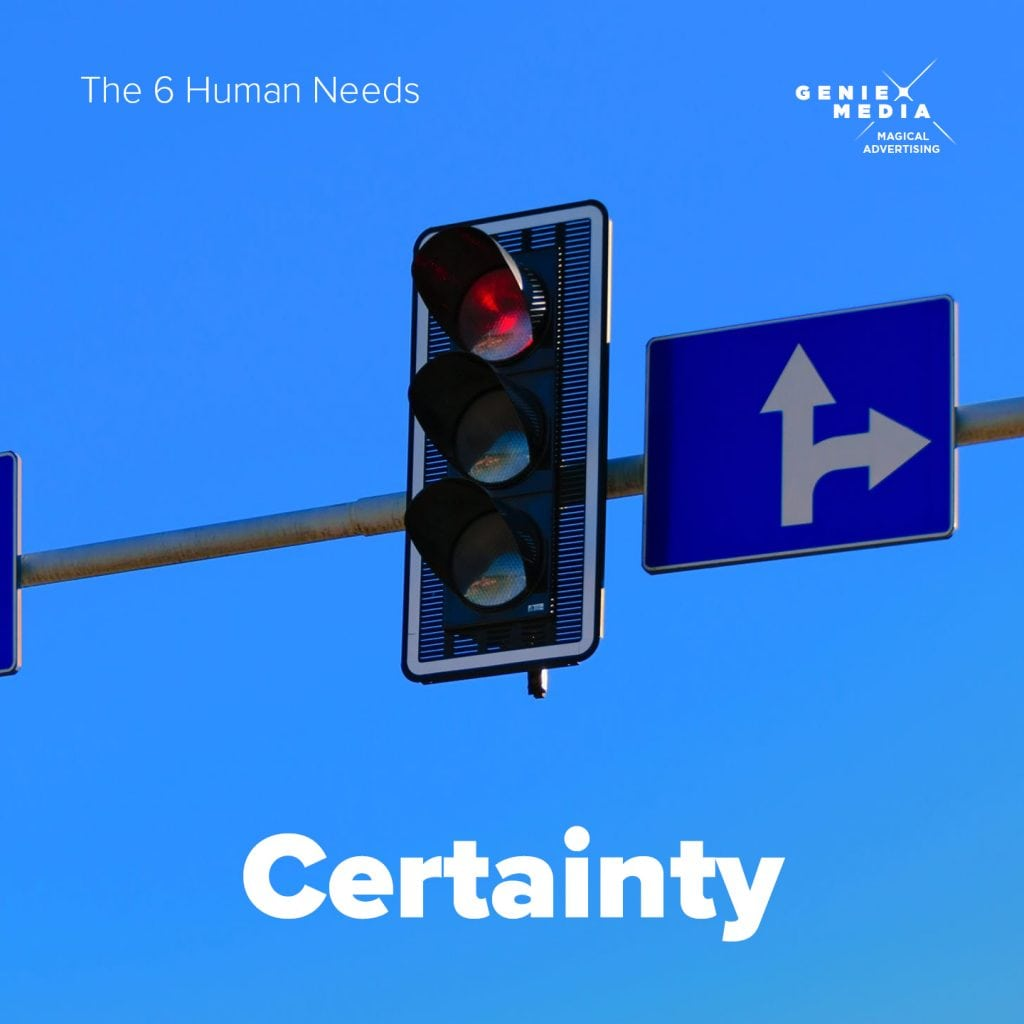 The 6 human needs - Certainty